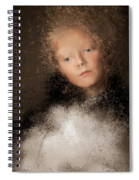 A Girl With The Hand Fan Spiral Notebook
