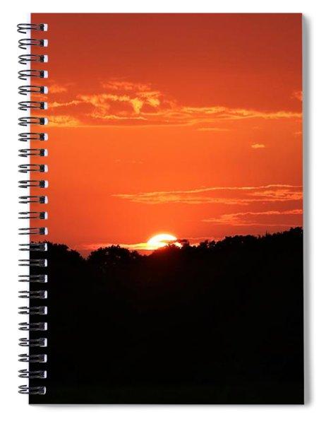 A Golden Sunset  Spiral Notebook