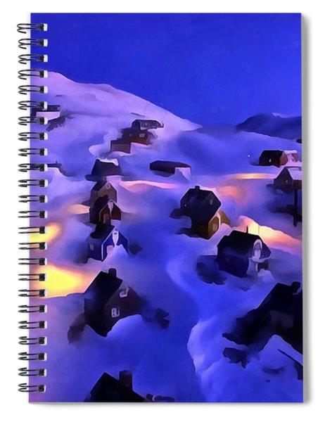 A Greenland Village View Spiral Notebook