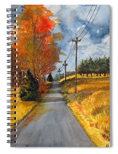 A Happy Autumn Day Spiral Notebook