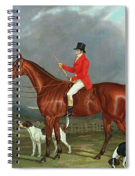 A Huntsman And Hounds, 1824  Spiral Notebook