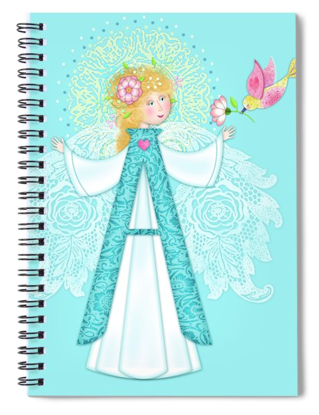 A Is For Angel Spiral Notebook