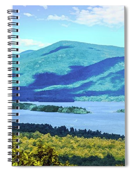 A Lake George View. Spiral Notebook