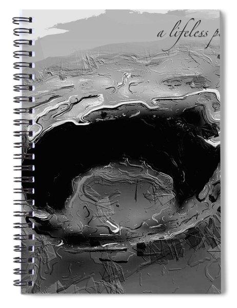A Lifeless Planet Black Spiral Notebook