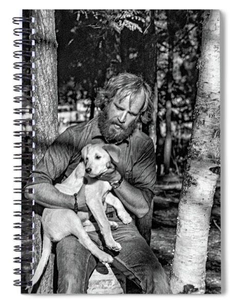 A Man And His Dog 2 Bw Spiral Notebook