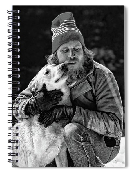 A Man And His Dog 3 Bw Spiral Notebook