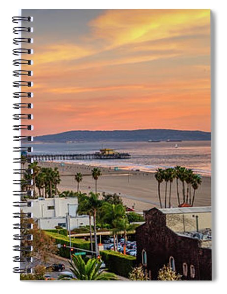 A Nice Evening In The Park - Panorama Spiral Notebook