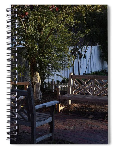 A Peaceful Sitting Area Spiral Notebook
