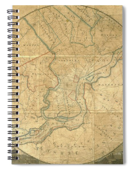 A Plan Of The City Of Philadelphia And Environs, 1808-1811 Spiral Notebook