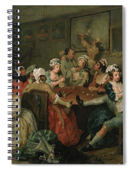 A Rake's Progress IIi  The Rake At The Rose Tavern Spiral Notebook