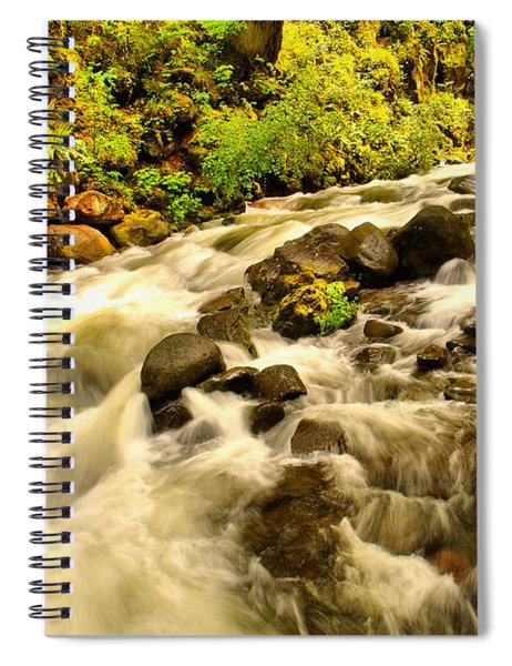 A River Turns Spiral Notebook