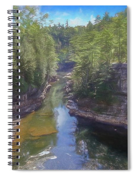 A Scenic Art Photograph At Ausable Chasm. Adirondack Park. Spiral Notebook