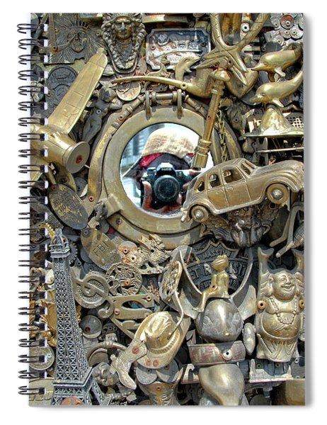 Self Portrait In The Brassworks Spiral Notebook