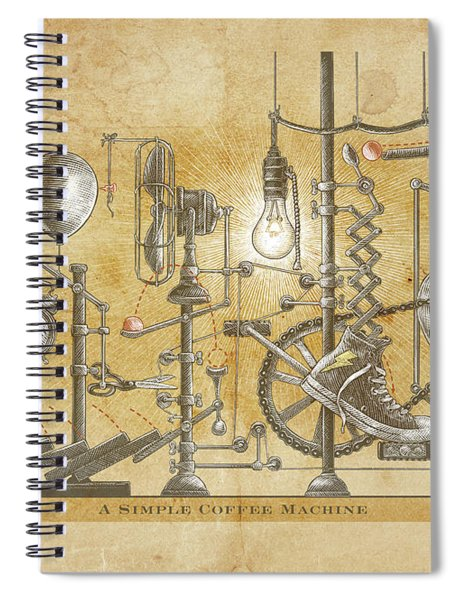 A Simple Coffee Machine Spiral Notebook