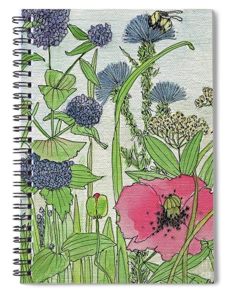 A Single Poppy Wildflowers Garden Flowers Spiral Notebook