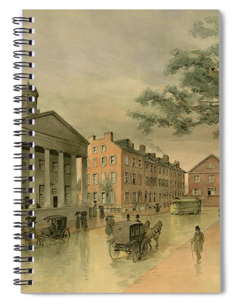 A Southwestern View Of Washington Square Spiral Notebook