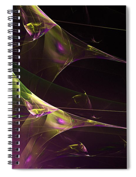 A Space Aurora Spiral Notebook