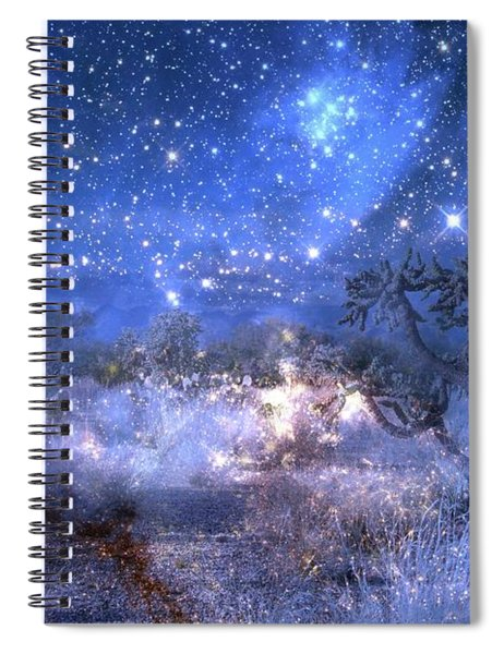 A Starry Night In The Desert Spiral Notebook