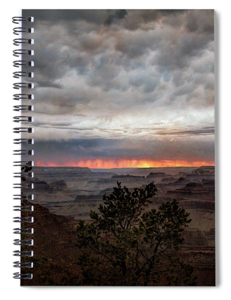 A Stormy Sunset At The Canyon Spiral Notebook