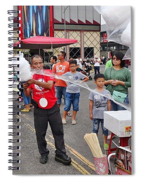 A Street Vendor Makes Cotton Candy Spiral Notebook