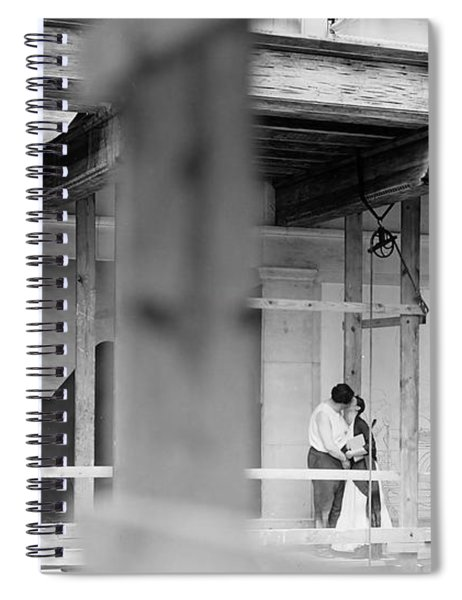 A Tender Moment Between Rivera And Kahlo On The Scaffold  Detroit Industry   Spiral Notebook