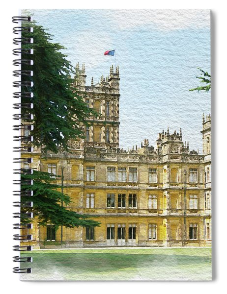 A View Of Highclere Castle 2 Spiral Notebook