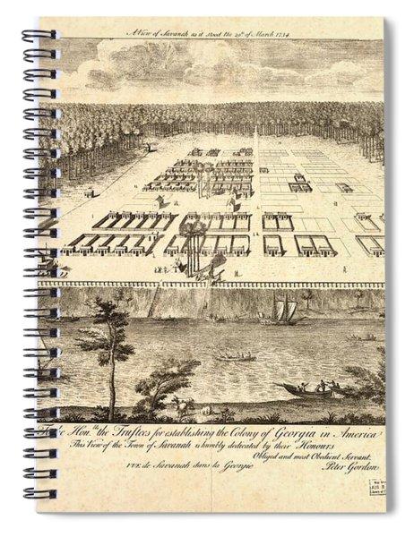 A View Of Savannah Spiral Notebook