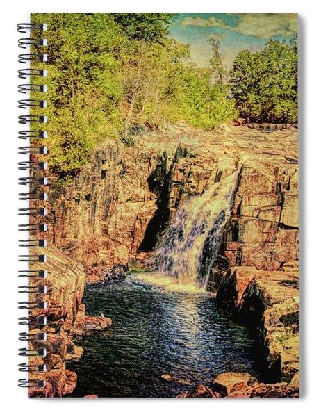 A Waterfall Landscape. Spiral Notebook