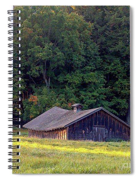 Abandoned Hay Barn At Sunrise Spiral Notebook