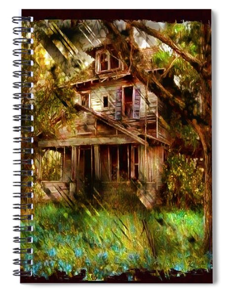 Abandoned Home With Black Border Spiral Notebook
