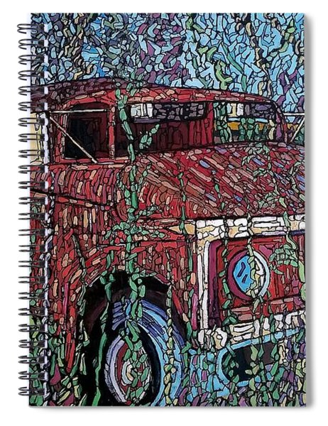 Abandoned Oil Truck  Spiral Notebook