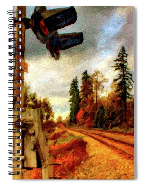 Abandoned Rr Crossing Spiral Notebook