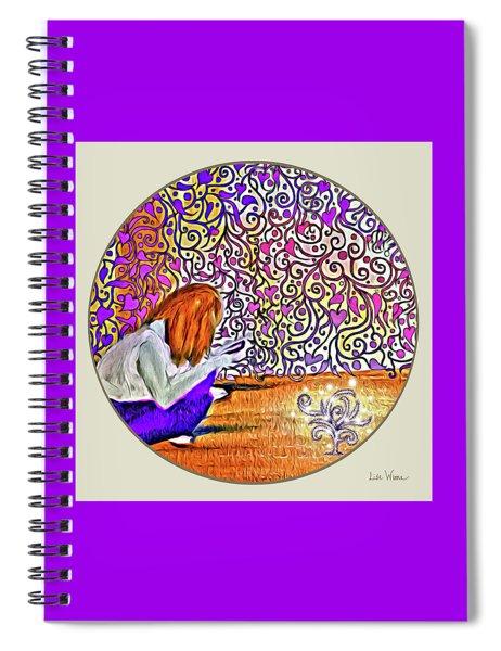Abbies Challenges Button Spiral Notebook
