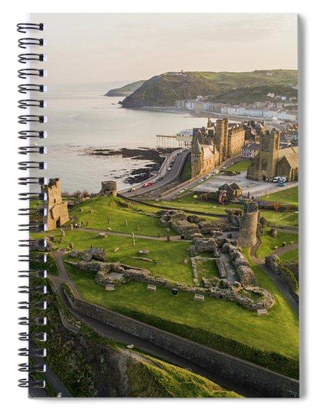 Aberystwyt Castle At Dawn Spiral Notebook