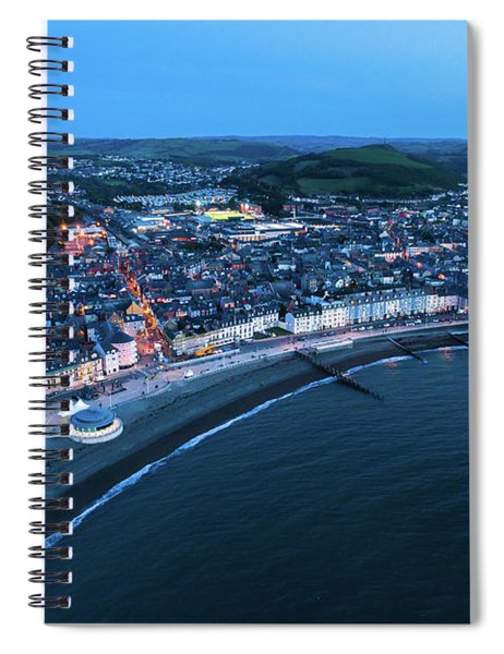 Aberystwyth From The Air At Night Spiral Notebook