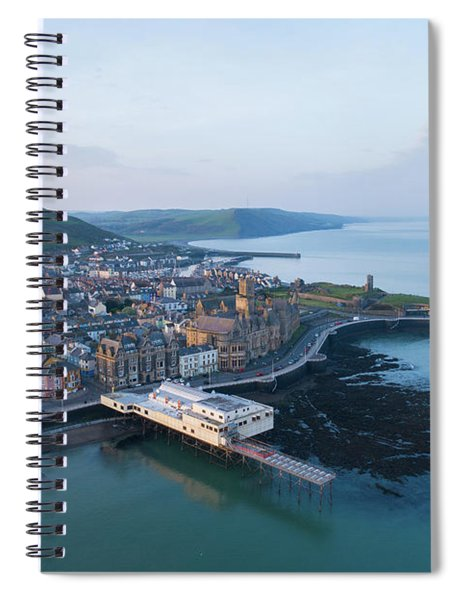 Aberystwyth From The Air In The Morning Spiral Notebook