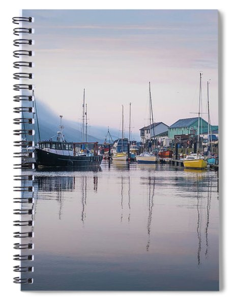 Aberystwyth Harbour In The Eatly Morning Spiral Notebook