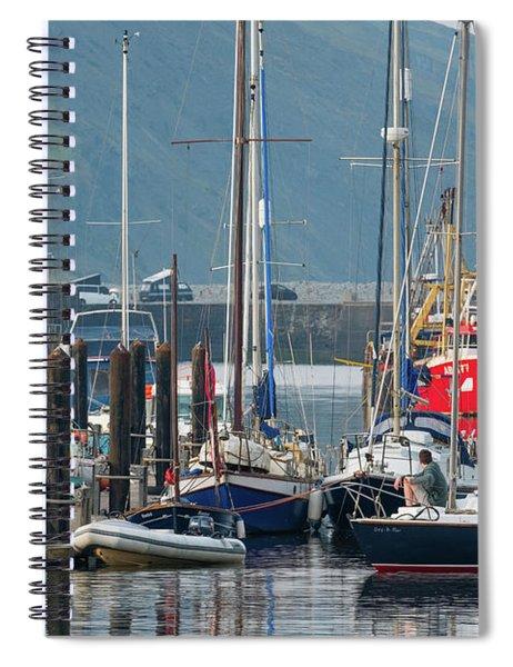 Aberystwyth Marina At Daybreaj Spiral Notebook