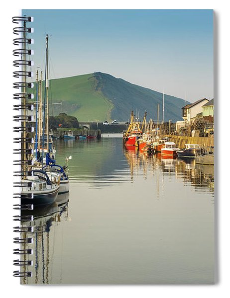 Aberystwyth Marina At Daybreak Spiral Notebook