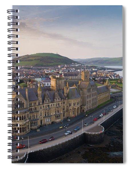 Aberystwyth Old College At Dawn Spiral Notebook