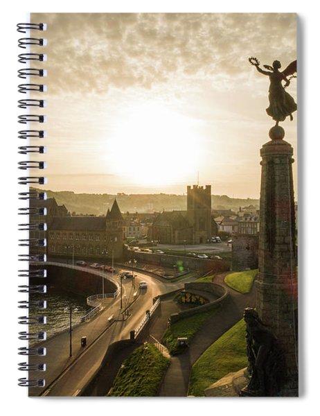 Aberystwyth War Memorial At Dawn Spiral Notebook