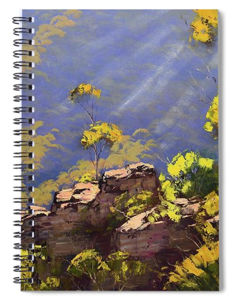 Above The Valley Spiral Notebook