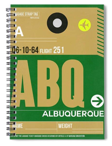 Abq Albuquerque Luggage Tag I Spiral Notebook