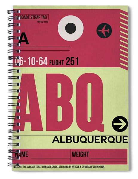 Abq Albuquerque Luggage Tag II Spiral Notebook