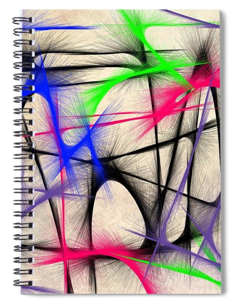 Abstract 901 Spiral Notebook