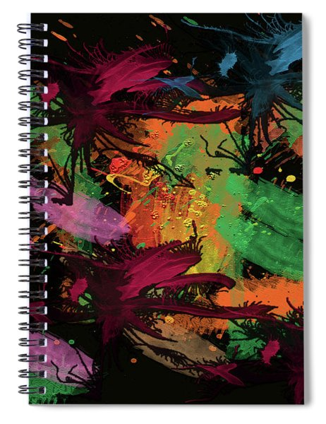 Abstract Action Series 01 Spiral Notebook