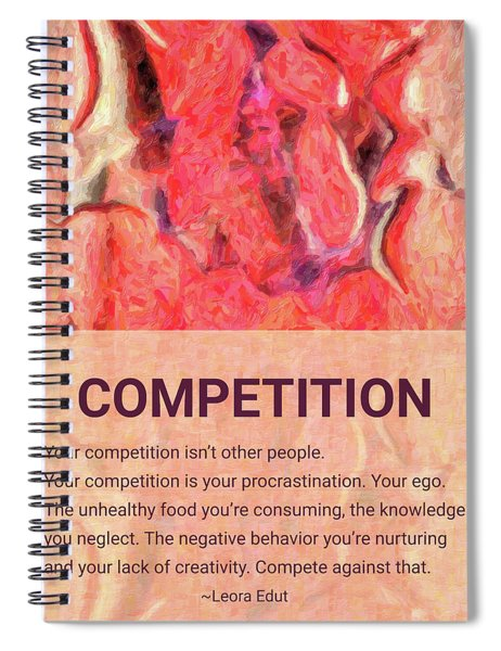Abstract Art - Competitive Transformations - By Omaste Witkowski Spiral Notebook