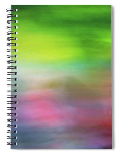 Abstract Blurred Rainbow Lines Background Of Fractal Artwork Spiral Notebook