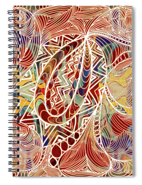 Abstract Bold Colors And Zen Circle Designs Digital Mixed Media By Omaste Witkowski  Spiral Notebook