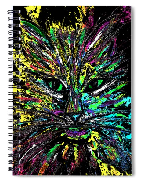 Abstract Cat  Spiral Notebook